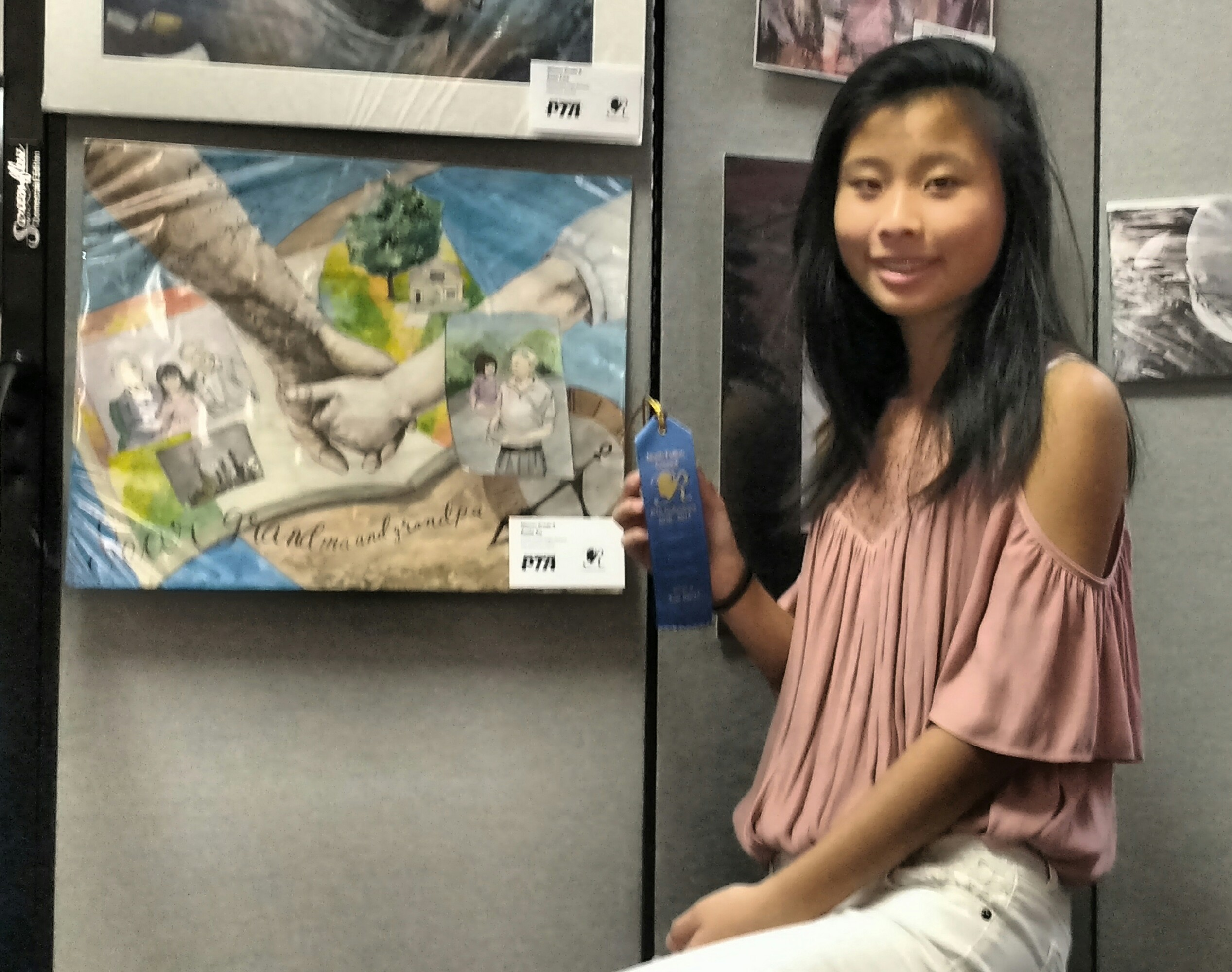 Amie Xu with painting