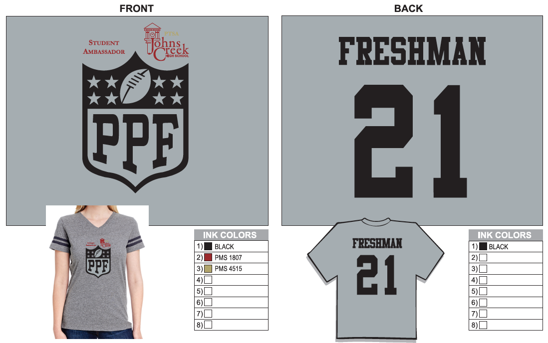 FRESHMAN T-SHIRT (Click on icon to enlarge)