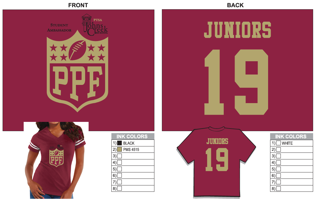 JUNIORS T-SHIRT (Click on icon to enlarge)